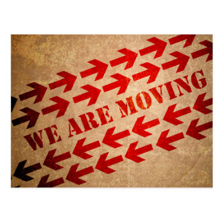 Moving Box and Arrows Announcement Postcard