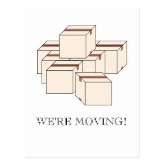 Moving Boxes Postcard
