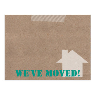Moving Cardboard PostCard - All colors!