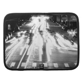 Moving Cars Black And White Folio Planner