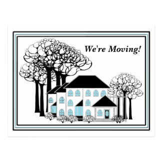 Moving - Changing Homes - Postcard