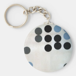 Moving Circles by Sophie Taeuber-Arp Basic Round Button Keychain