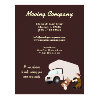 "Moving Company 8.5"" X 11"" Flyer"