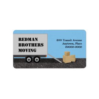 Moving Company Address Label