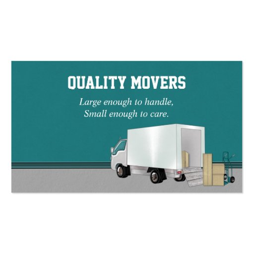 Moving company business card zazzle for Moving business cards