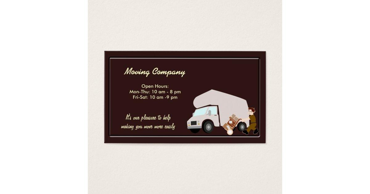 Moving Company Business Card   Zazzle.com