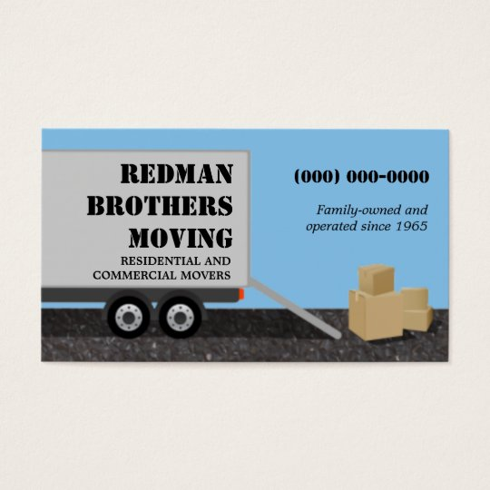 Moving company business card zazzlecom for Moving business cards