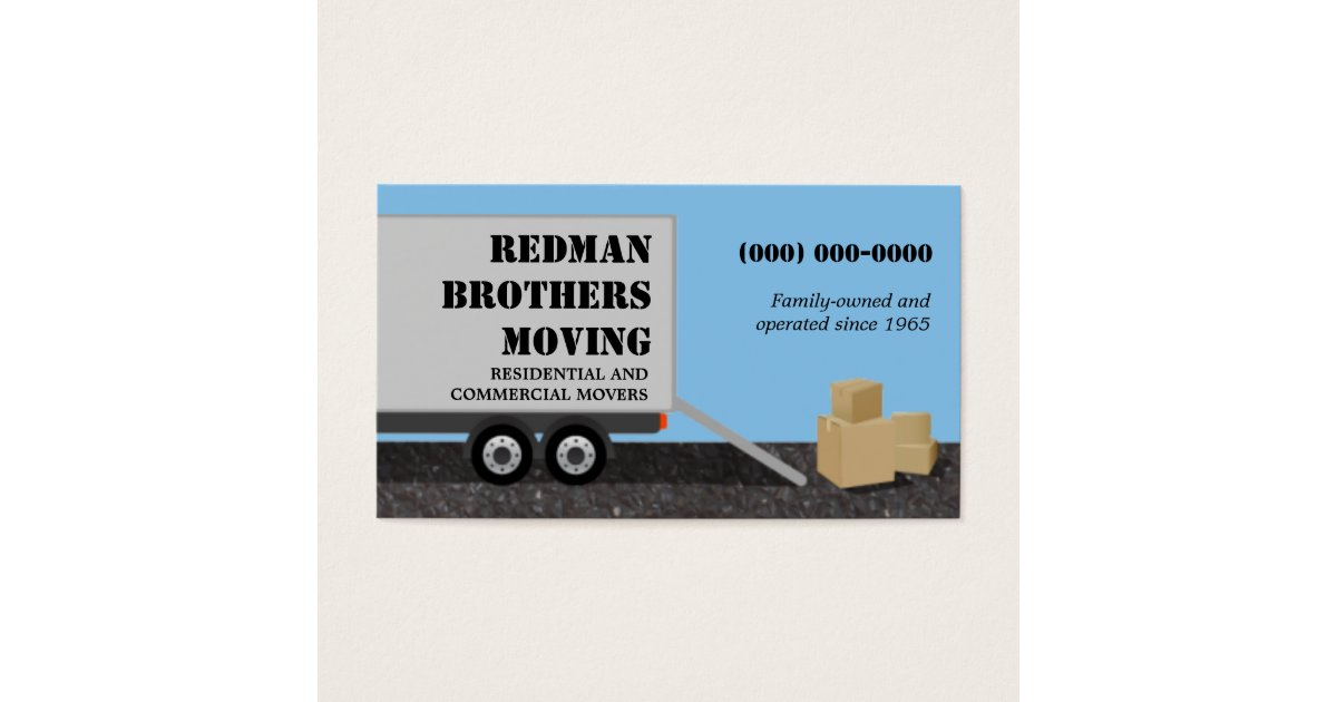 Moving Company Business Cards & Templates | Zazzle