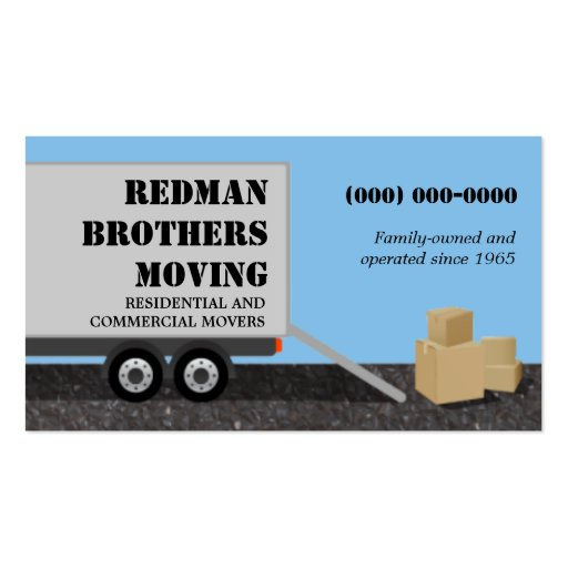 85 moving company business cards and moving company for Moving business cards