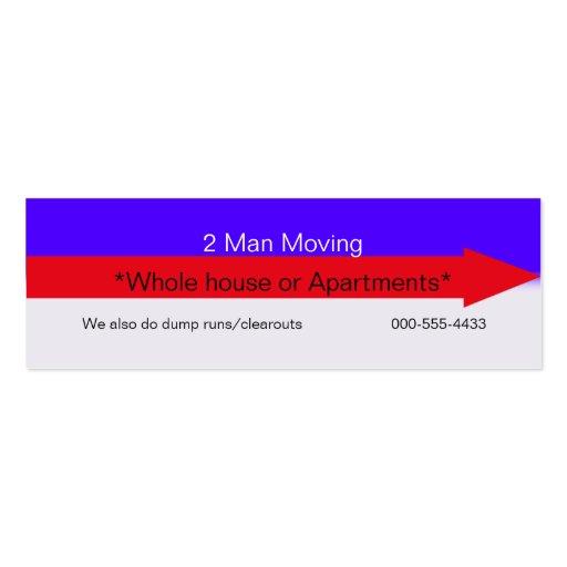 Moving company business card templates zazzle for Moving business cards