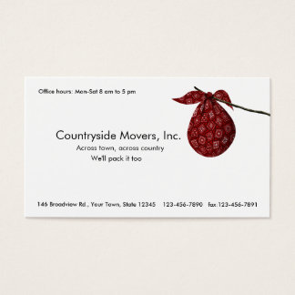 Moving Company is Better Than a Bindle Business Card