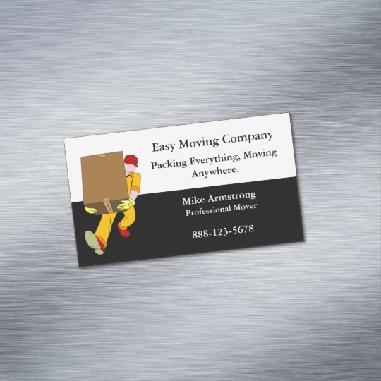 Moving company mover box business card magnet zazzle moving company mover box business card magnet colourmoves