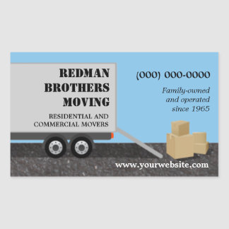 Moving Company Sticker