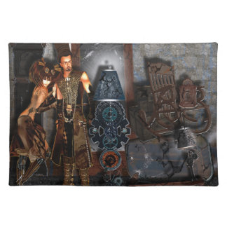 Moving Day,The Steampunk Way. Cloth Placemat