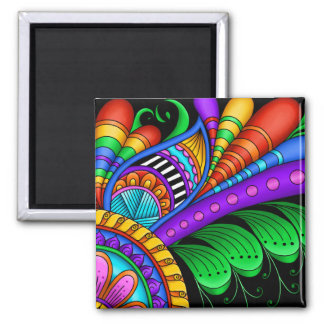 Moving Fast 2 Inch Square Magnet