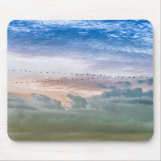Moving Forward Bird Migration Team Inspiration Mouse Pad