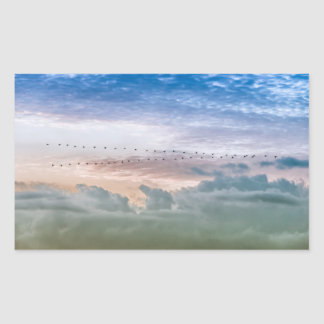 Moving Forward Bird Migration Team Inspiration Rectangular Sticker