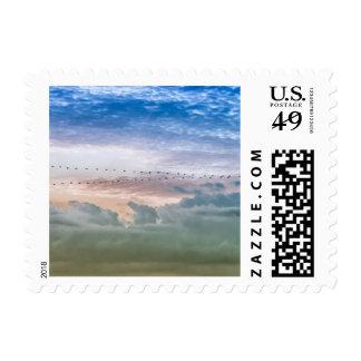Moving Forward Bird Migration Team Inspiration Stamp