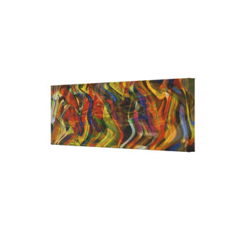 Moving Forward - Dancing with Primary Colors Canvas Print