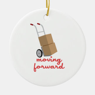 Moving Forward Double-Sided Ceramic Round Christmas Ornament