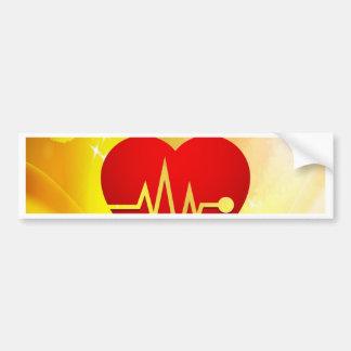 moving heart and true love bumper sticker