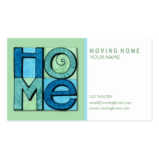 Moving Home Business Card