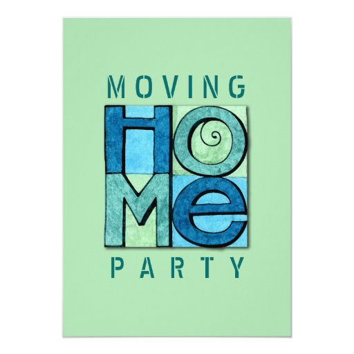 Moving Home Party Invitation