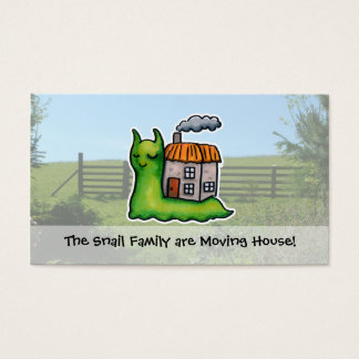 Moving House announcement snail Business Card