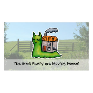 Moving House announcement snail Double-Sided Standard Business Cards (Pack Of 100)