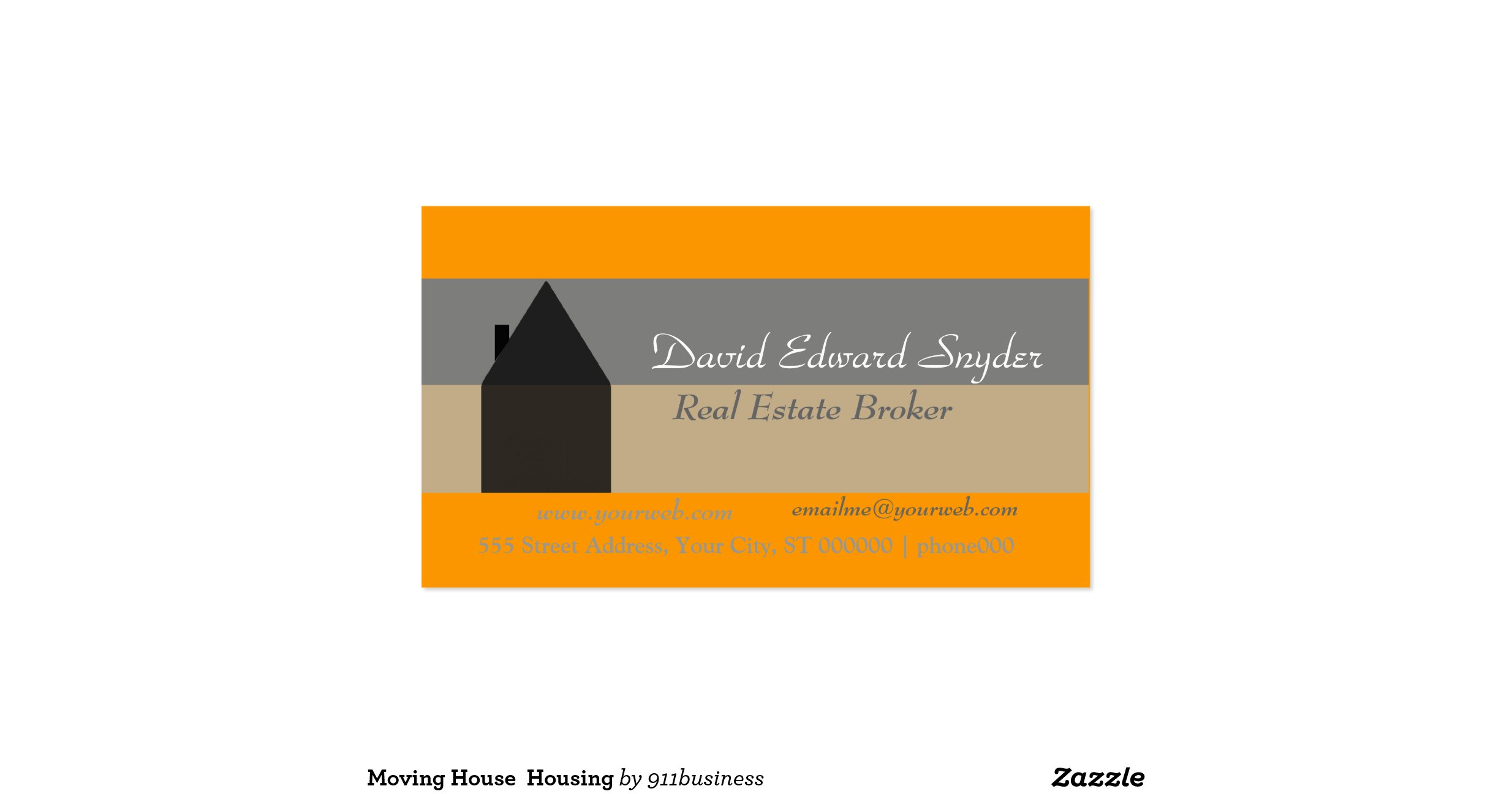Moving House Housing Double Sided Standard Business Cards