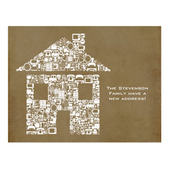 Moving House New Address Notification Note Card