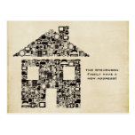Moving House New Address Notification Note Card Post Card
