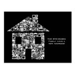 Moving House New Address Notification Note Card Postcards