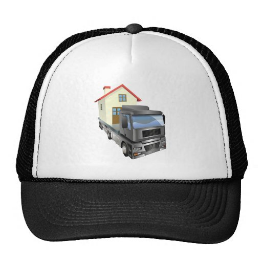 Moving house truck concept mesh hats