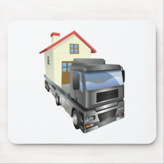 Moving house truck concept mousepad