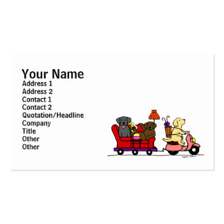 Moving Labradors Double-Sided Standard Business Cards (Pack Of 100)