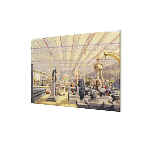 Moving Machinery, plate 49 from 'Dickinsons' Compr Canvas Print