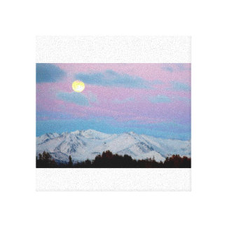 Moving Mountains for the Moon Canvas Print