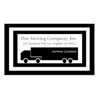 Moving/Movers/Trucking Company White Paper Business Card