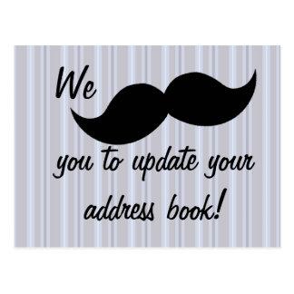 Moving Mustache Postcard