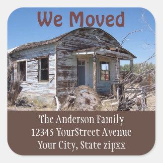 Moving New Address Square Sticker