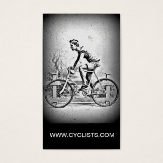 Moving On l Monochrome Cyclist Cycling Business Card