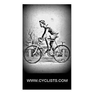 Moving On l Monochrome Cyclist Cycling Double-Sided Standard Business Cards (Pack Of 100)
