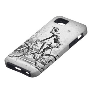 Moving On l Monochrome Cyclist Cycling iPhone SE/5/5s Case
