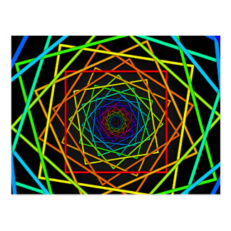 Moving Optical Illusion Art Postcard