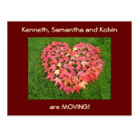 Moving postcards Announcements Moved Red Leaves