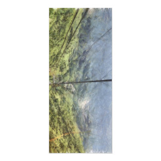 Moving quickly up a mountain 4x9.25 paper invitation card