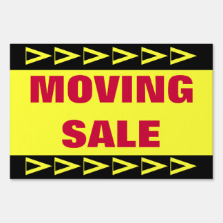 Moving Sale Lawn Sign