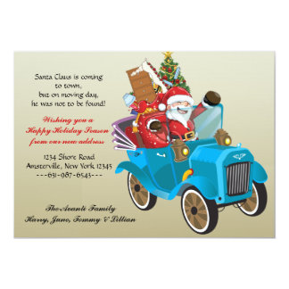 Moving Santa Holiday Moving Announcement