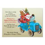 "Moving Santa Holiday Moving Announcement 5"" X 7"" Invitation Card"